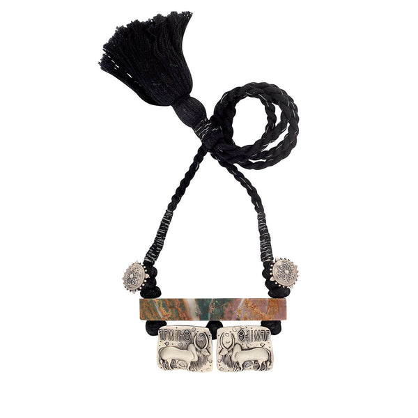 Harappa Vrishubh (Bull Seal Pendent) Necklace Black Thread - mohabygeetanjali