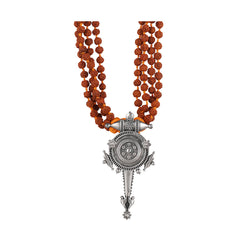 Hingora Pendant Necklace With Rudraksha