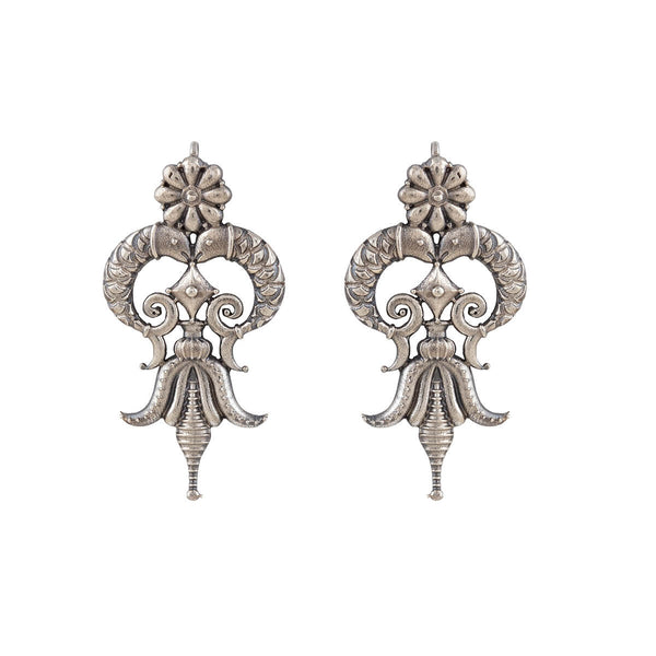 Isha Silver Earrings - mohabygeetanjali