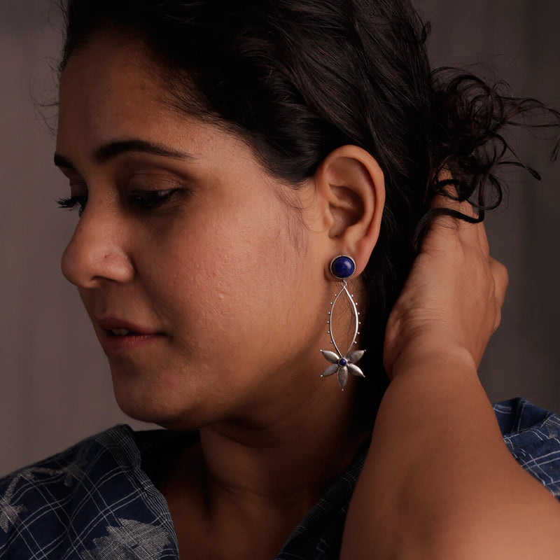 Saroj Silver Earrings