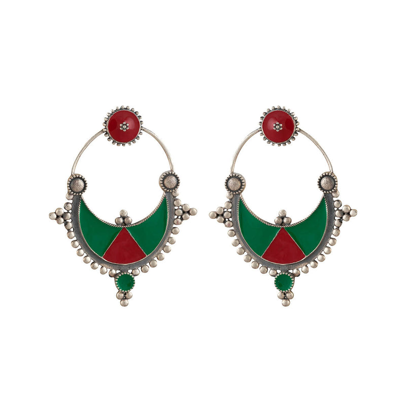 Kharwa Silver Earrings - mohabygeetanjali