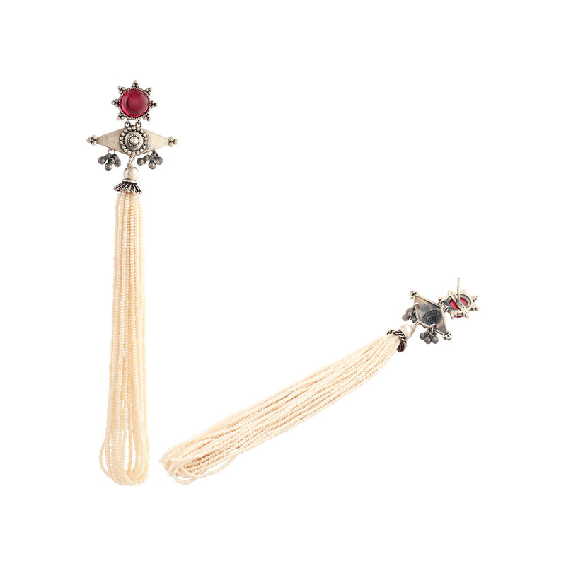 Kona Silver Earrings With Tassels