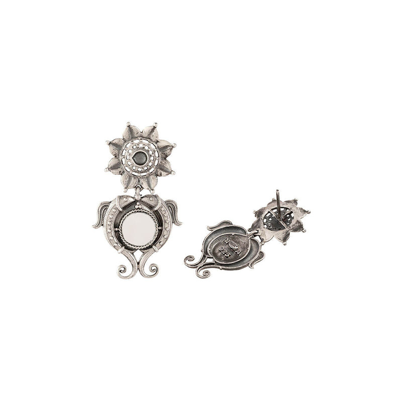 Buy Kumudh Silver Earrings