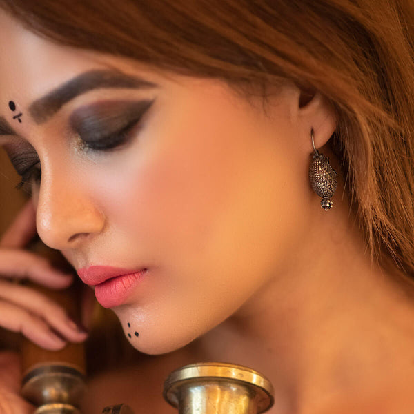 Kundal Silver Earrings - mohabygeetanjali