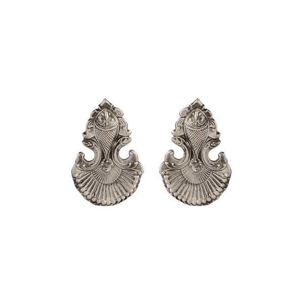 Buy Mahi Silver Earrings