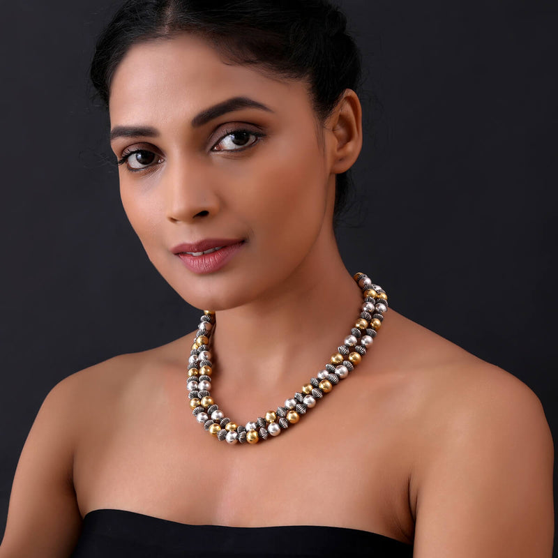 Buy Mohanaa Silver Necklace Online
