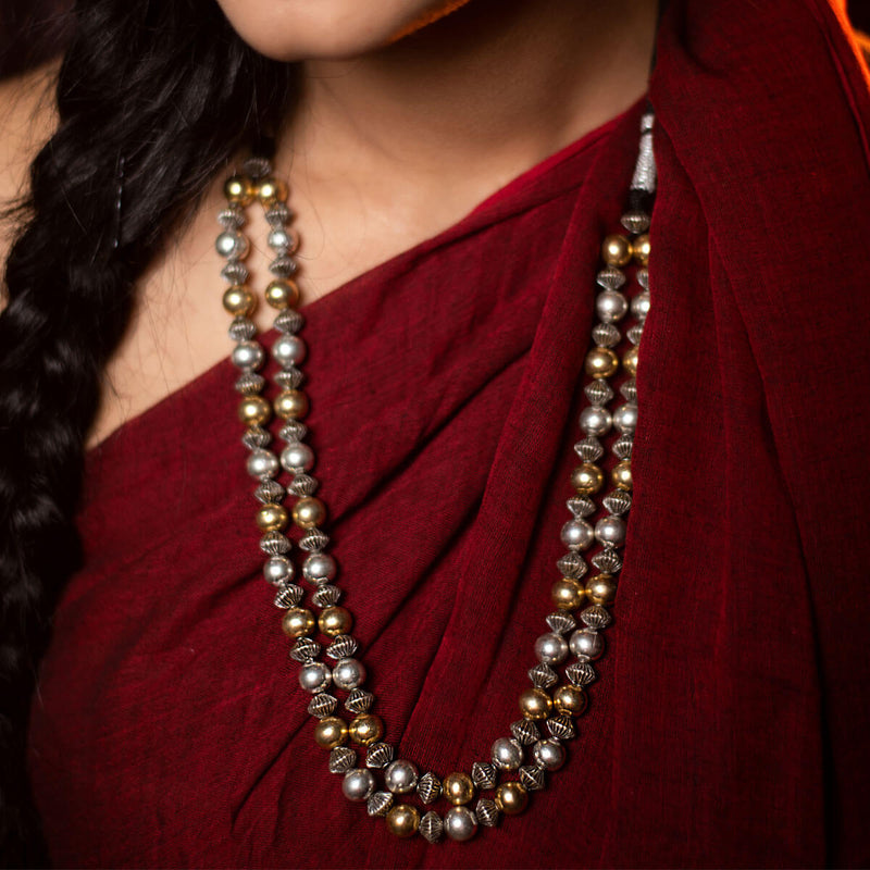 Mohanaa Silver Necklace