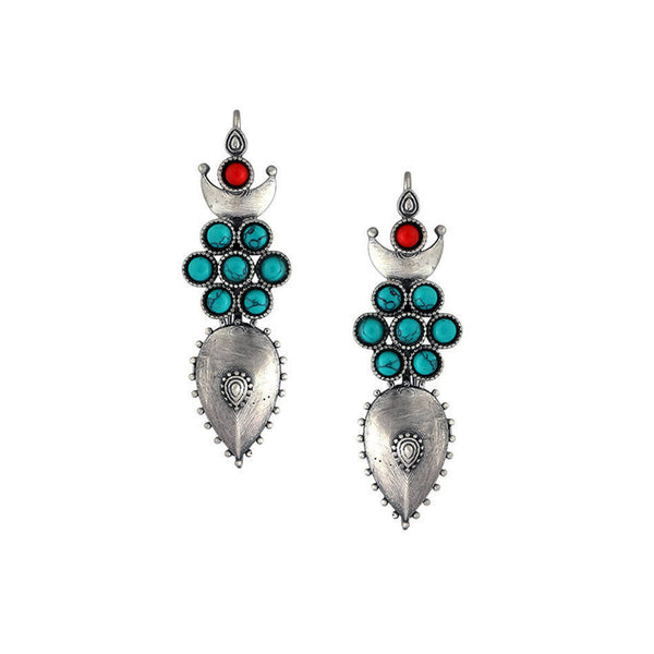 Moonflower Silver Earring - mohabygeetanjali