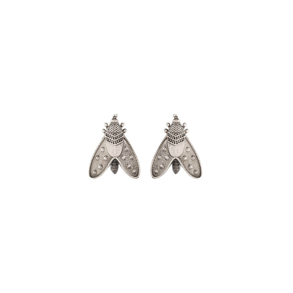 Patanga Silver Earrings - Small - mohabygeetanjali