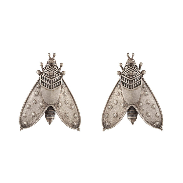 Patanga Silver Earrings - Big - mohabygeetanjali
