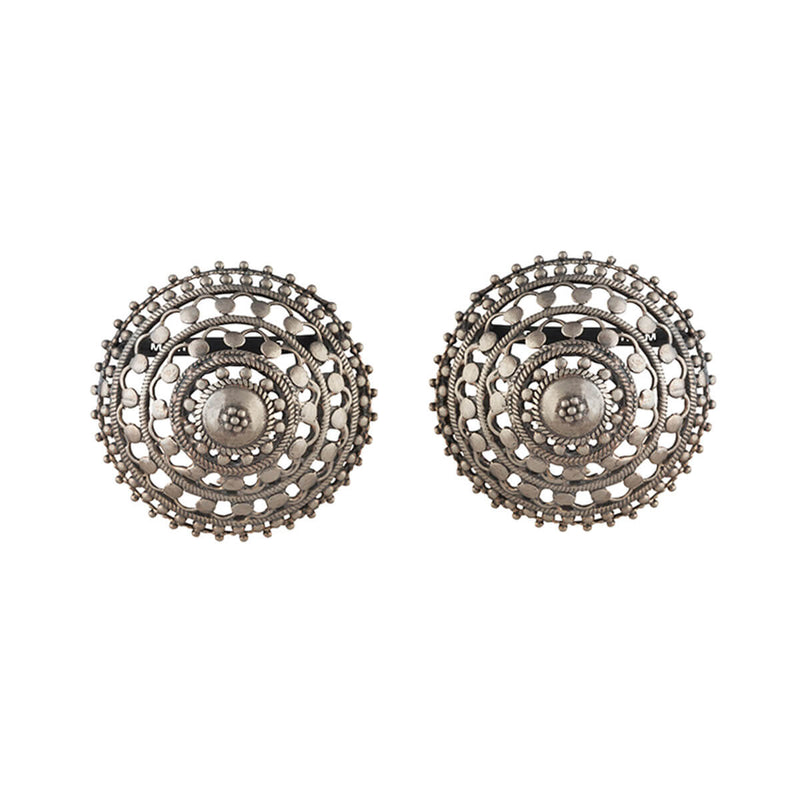 Phul Bhungri Silver Earrings - mohabygeetanjali