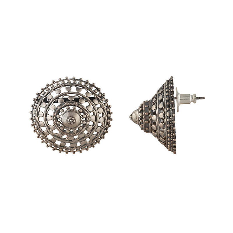 Phul Bhungri Silver Earrings