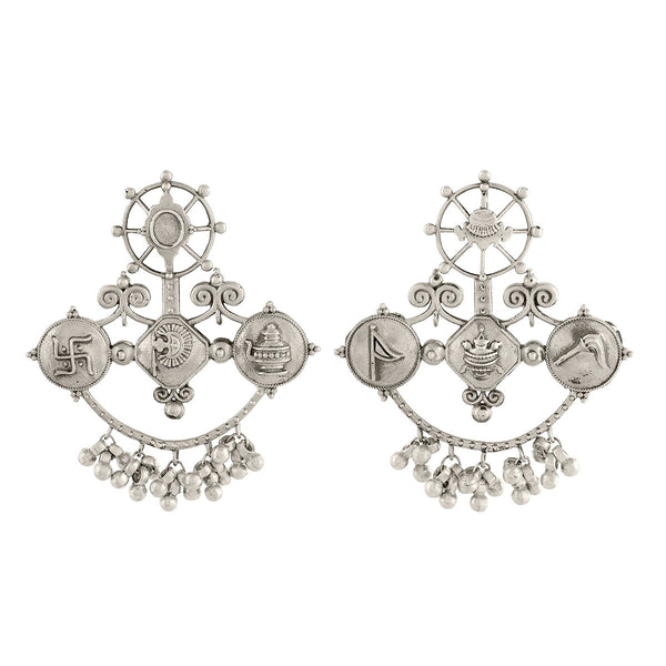 Buy Rehan Silver Earrings