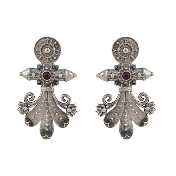 Rima Silver Earrings - mohabygeetanjali
