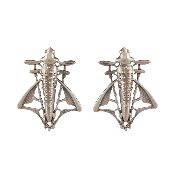 Sharaba Silver Earrings - Big - mohabygeetanjali