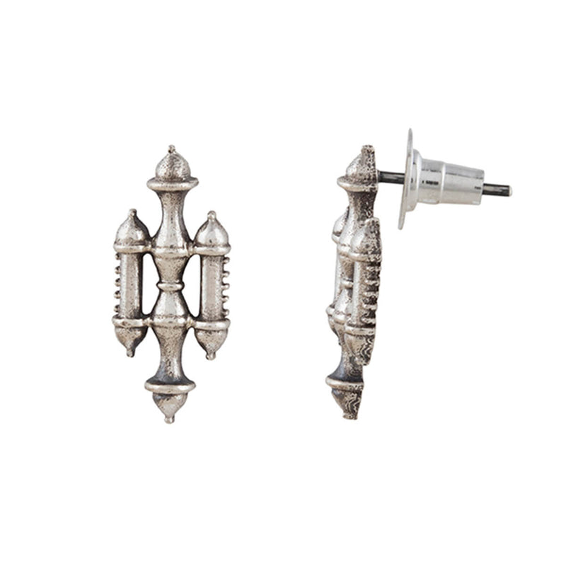 Buy Stambh Silver Earrings