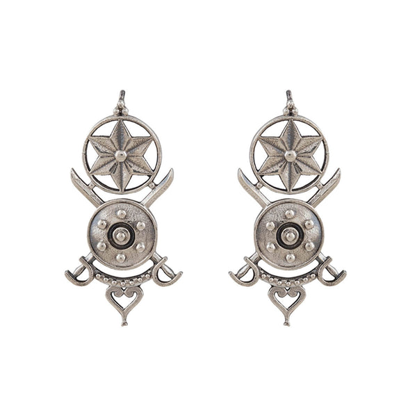 Tarak Silver Earrings - mohabygeetanjali