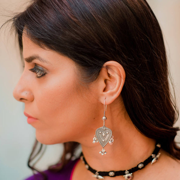 Tarang Silver Earrings - mohabygeetanjali