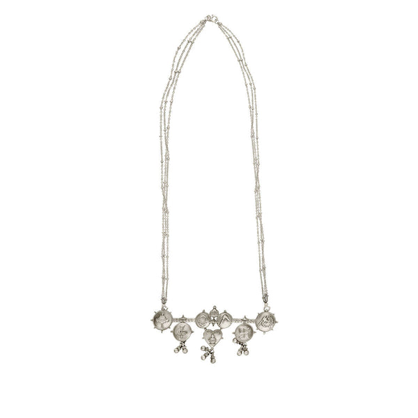 Buy Tatva Silver Pendant Necklace With Silver Chain