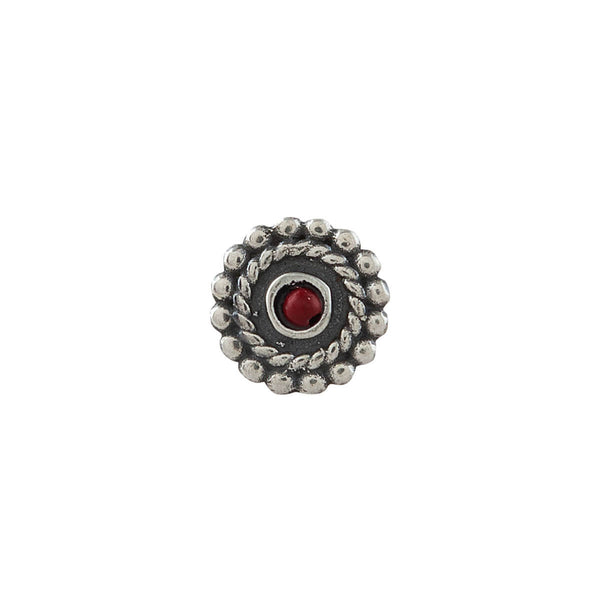 Whorl Silver Nose Pin - Clip On - mohabygeetanjali