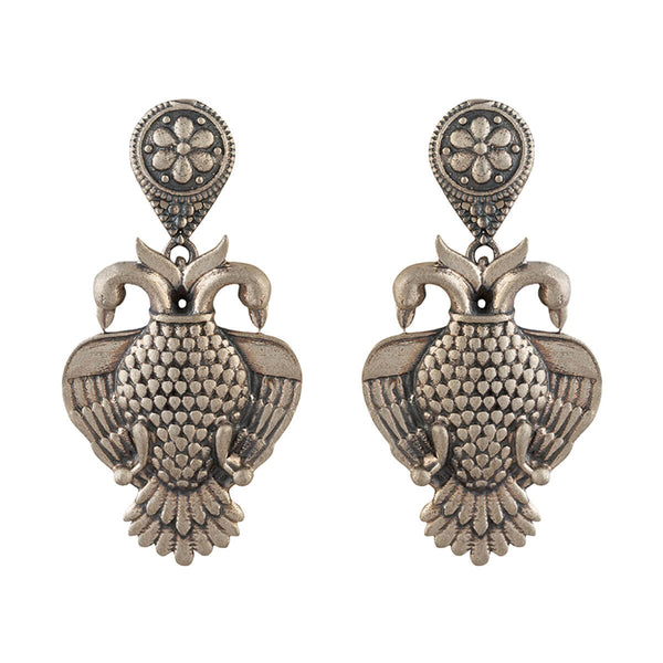 Aras (Gandabherunda) Silver Earrings - mohabygeetanjali