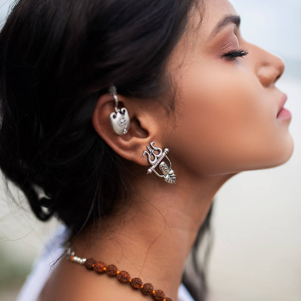 Bhava Silver Earrings - mohabygeetanjali