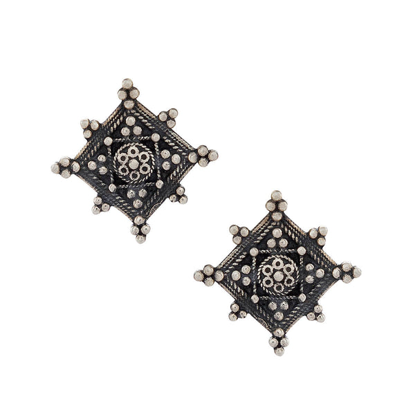 Bija Silver Earrings - mohabygeetanjali