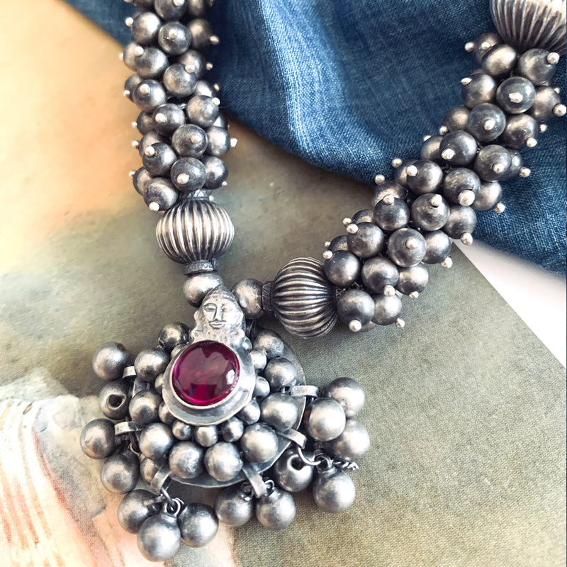 Buy Devika Silver Necklace Online