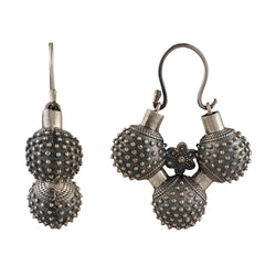 Gokhru Silver Earrings