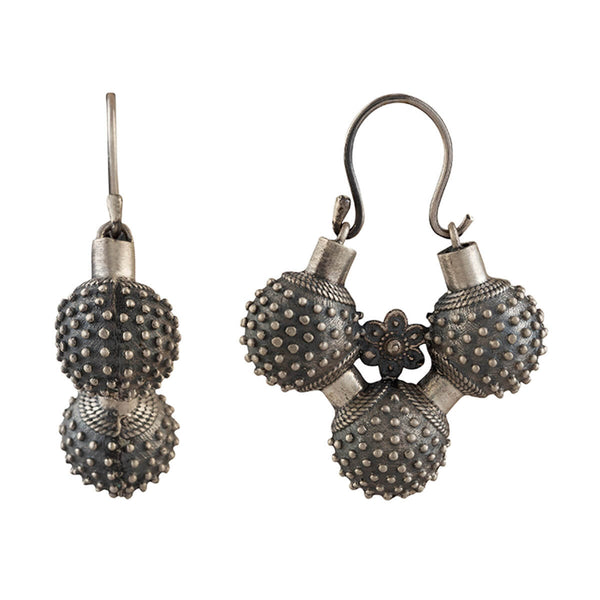 Gokhru Silver Earrings - mohabygeetanjali
