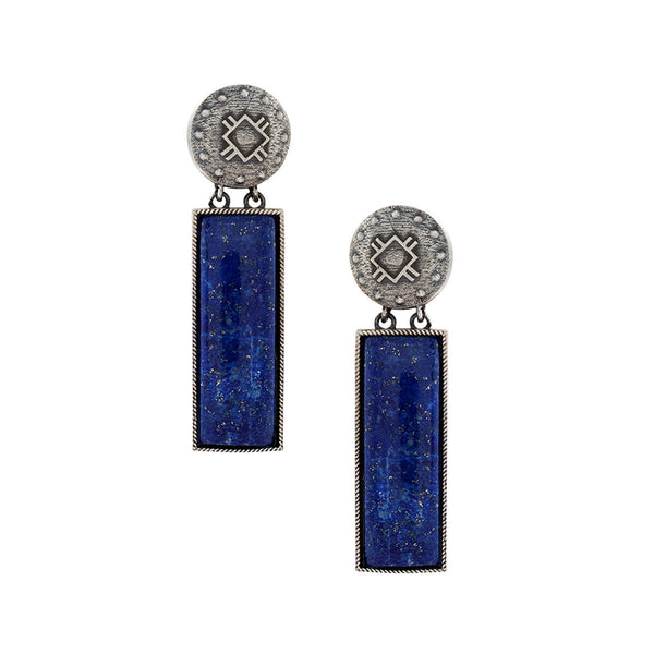Harappa Bhasha Silver Earrings - Marine Theme - mohabygeetanjali