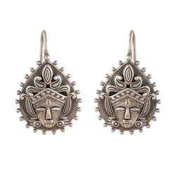 Kali Goddess Galore Silver Earrings - mohabygeetanjali