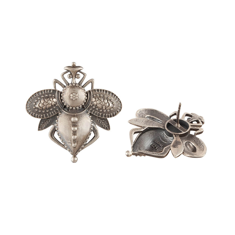 Madhur Silver Earrings - mohabygeetanjali