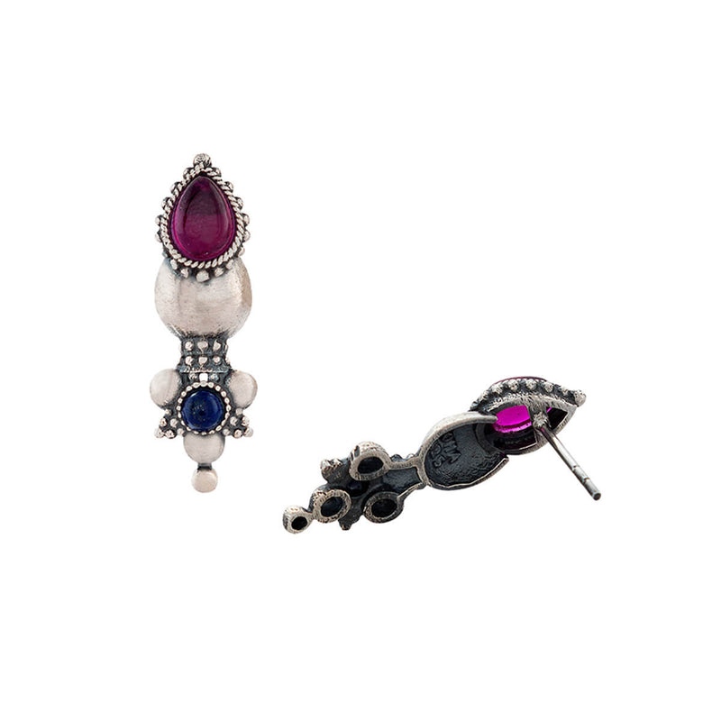 Buy Nazakat Silver Earrings