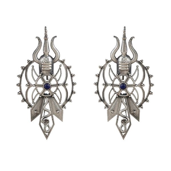 Shivapriya Silver Earrings - mohabygeetanjali