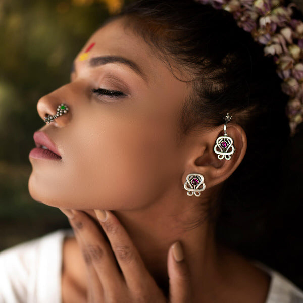 Som Silver Earrings - mohabygeetanjali