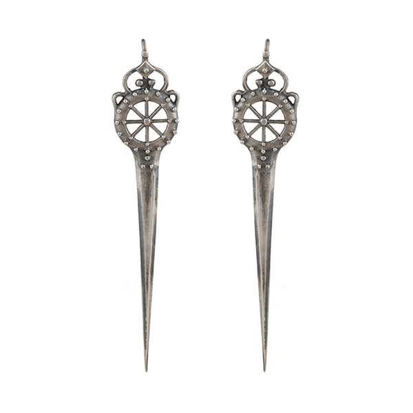 Talwar Silver Earrings - mohabygeetanjali