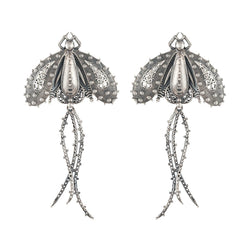 Titli Silver Earrings - mohabygeetanjali