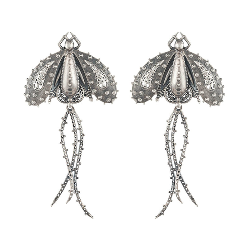 Titli Silver Earrings