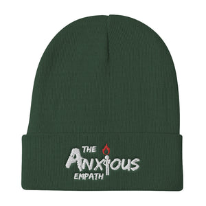 Embroidered Beanie - THE ANXIOUS EMPATH LOGO
