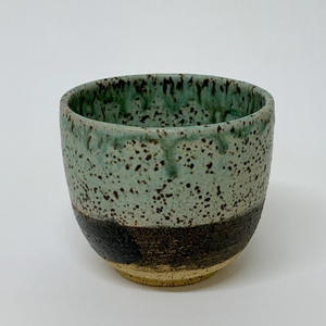 Tumbler: Birds-egg green and black   0023