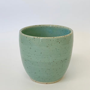 012.  Tumbler: Speckled Robin-egg blue.