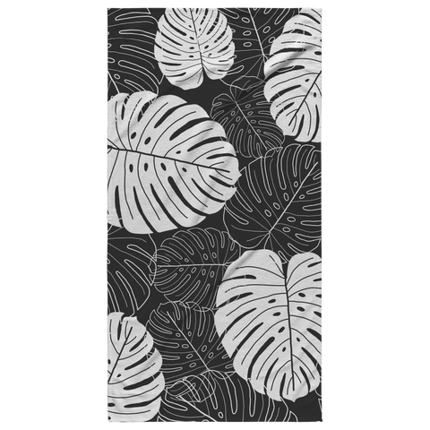 Monstera Filled Beach Towel