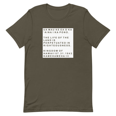 Hawaii State Motto Block T-shirt (Unisex)