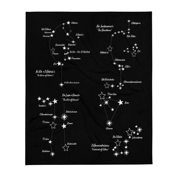 Hawaiian Constellation Skylines Throw Blanket