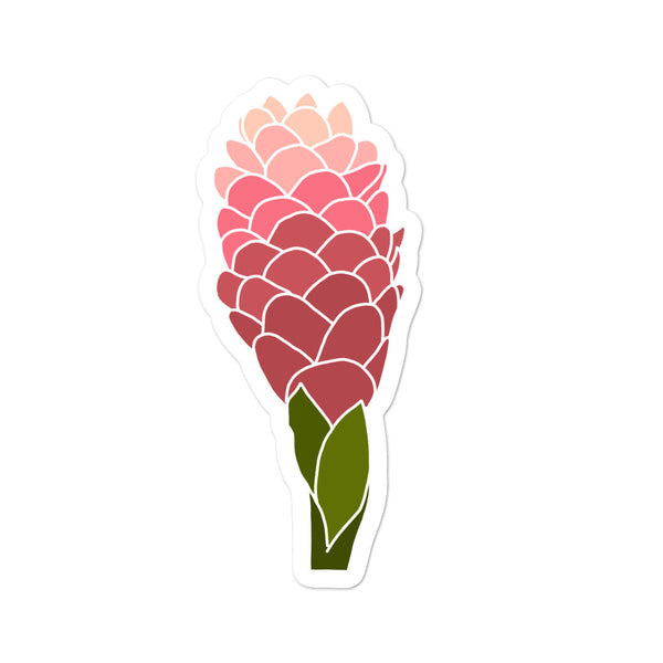 'Awapuhi Pink Ginger Sticker
