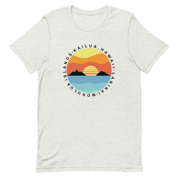 Lanikai Mokulua Islands Circle Graphic T-shirt (Unisex)