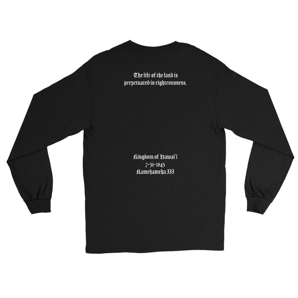 Hawaii State Motto Front/ Back Long Sleeve Shirt (Mens)