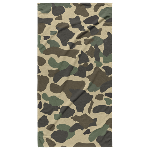 Neutral Island Camouflage Beach Towel