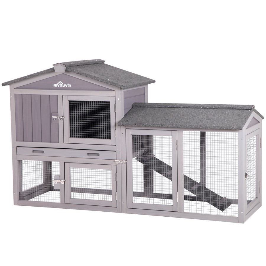 Rabbit Hutch, Easy Combine With Second Bunny Cage - AIR02 (Inner space 10.4 ft²)